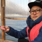 黒部交流会木崎湖にてワカサギ釣りの様子